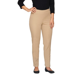 Isaac Mizrahi Live! Regular 24/7 Stretch Pull-On Ankle Pants - A255544