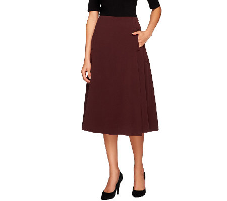 George Simonton A-Line Skirt with Elastic Waist and Seam Detail