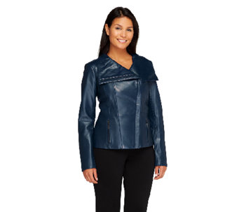 Dennis Basso Platinum Collection Lamb Leather Jacket - A258144