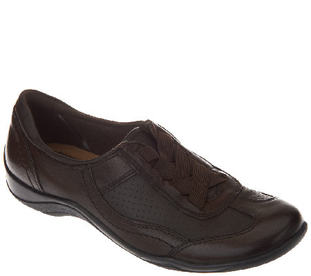 Earth Origins Leather Gored Lace Slip-On Shoes - Jennings