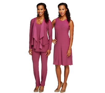 """As Is"" Attitudes by Renee Regular Jersey Knit 4pc Wardrobe - A263144"