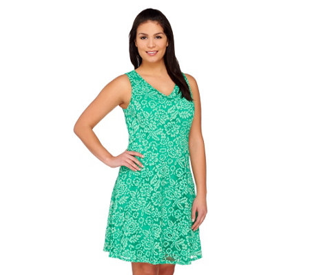 Isaac Mizrahi Live! Sleeveless Lace Dress