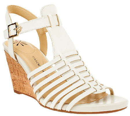 Isaac Mizrahi Live! Fisherman Open Toe Wedge Sandals