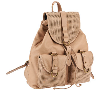 Joelle Hawkens by Treesje Perforated Leather Rachel Backpack - A264444