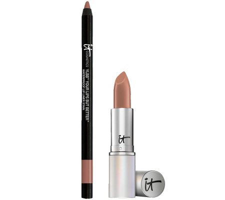 IT Cosmetics Blurred Lines Smooth-Fill Lipstick & YLBB Liner Stain Duo