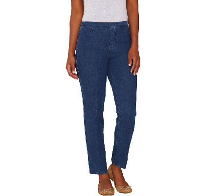 Isaac Mizrahi Live! Regular 24/7 Denim Ankle Pants