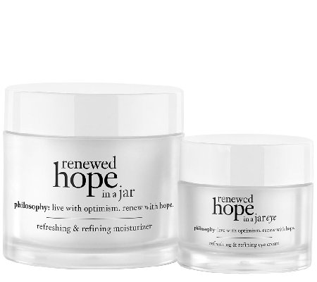philosophy renewed hope moisturizer & eye cream duo