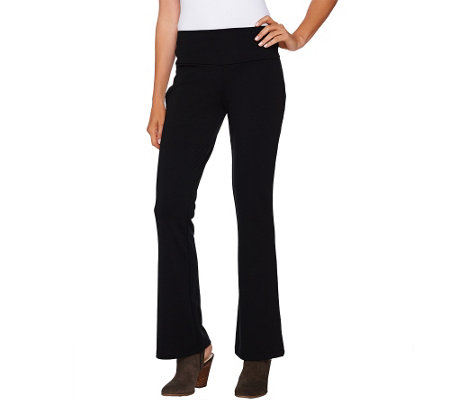 Women with Control Petite Ponte di Roma Low Bell Pants