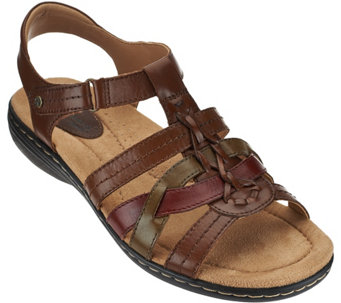 Earth Origins Leather Multi-strap Sandals - Katrina - A274244