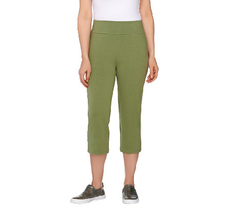 """As Is"" LOGO Layers by Lori Goldstein Pull- On Knit Capri Pants"