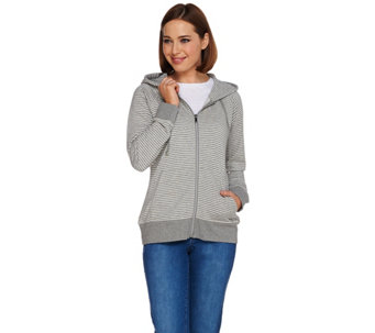 Isaac Mizrahi Live! SOHO French Terry Zip Front Hoodie - A276744