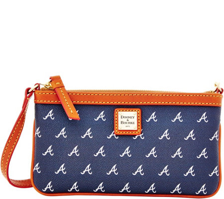 Dooney & Bourke MLB Braves Large Slim Wristlet