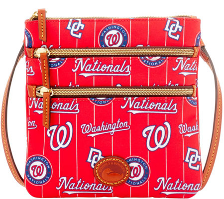 Dooney & Bourke MLB Nylon Nationals Triple Zip Crossbody