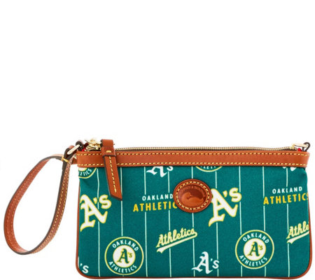Dooney & Bourke MLB Nylon Athletics Large Slim Wristlet