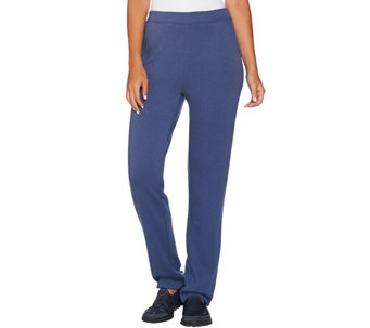 Denim & Co. Active Regular Slim Leg Full Length Pants w Pockets - A282444