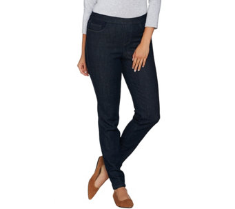 Denim & Co. Petite 5 Pocket Denim Pull-on Jeggings - A282544