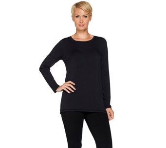 cee bee CHERYL BURKE Long Sleeve Top with Mesh Detail - A282644