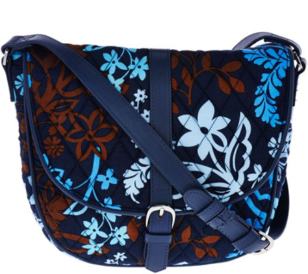 Vera Bradley Signature Print Slim Saddle Bag