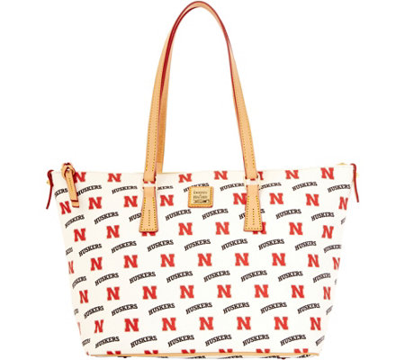Dooney & Bourke NCAA University of Nebraska Zip Top Shopper