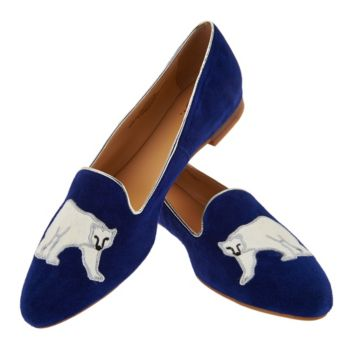 C. Wonder Suede Loafer with Polar Bear Embroidery - Courtney