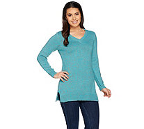 Denim & Co. V-Neck Long Sleeve Sweater Tunic - A285944