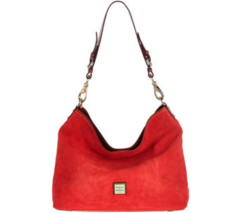 """As Is"" Dooney & Bourke Suede Shoulder Bag - Courtney - A289444"