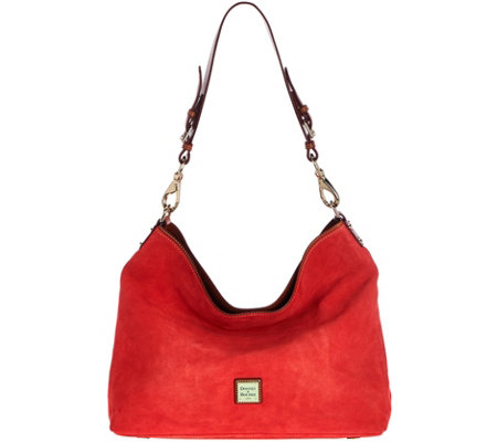 """As Is"" Dooney & Bourke Suede Shoulder Bag - Courtney"