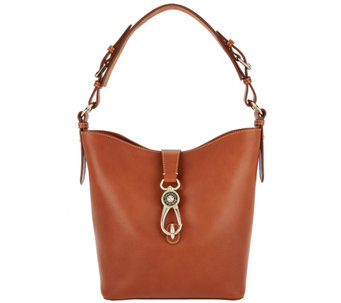 """As Is"" Dooney & Bourke Lock Toscana Leather Shoulder Bag - Lily - A289844"