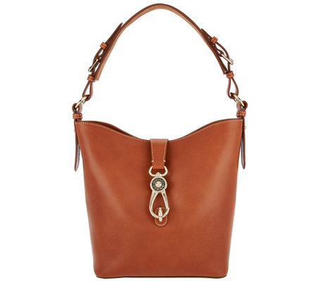 """As Is"" Dooney & Bourke Lock Toscana Leather Shoulder Bag - Lily"