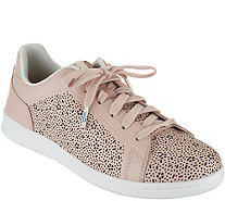 ED Ellen DeGeneres Leather Lace-up Sneakers - Chaperf - A291044