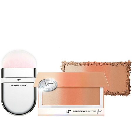 IT Cosmetics Confidence In Your Glow Blushing Bronzer & Brush
