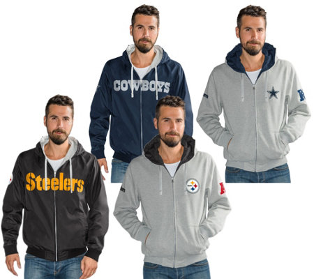 NFL Reversible Hoodie and Jacket in Team Colors