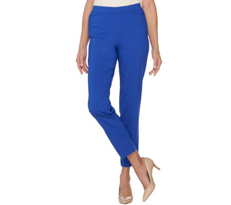 """As Is"" Susan Graver Ultra Stretch Pull-On Slim Leg Pants"