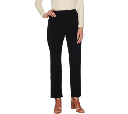 Susan Graver Petite Chelsea Stretch Pull-On Pants