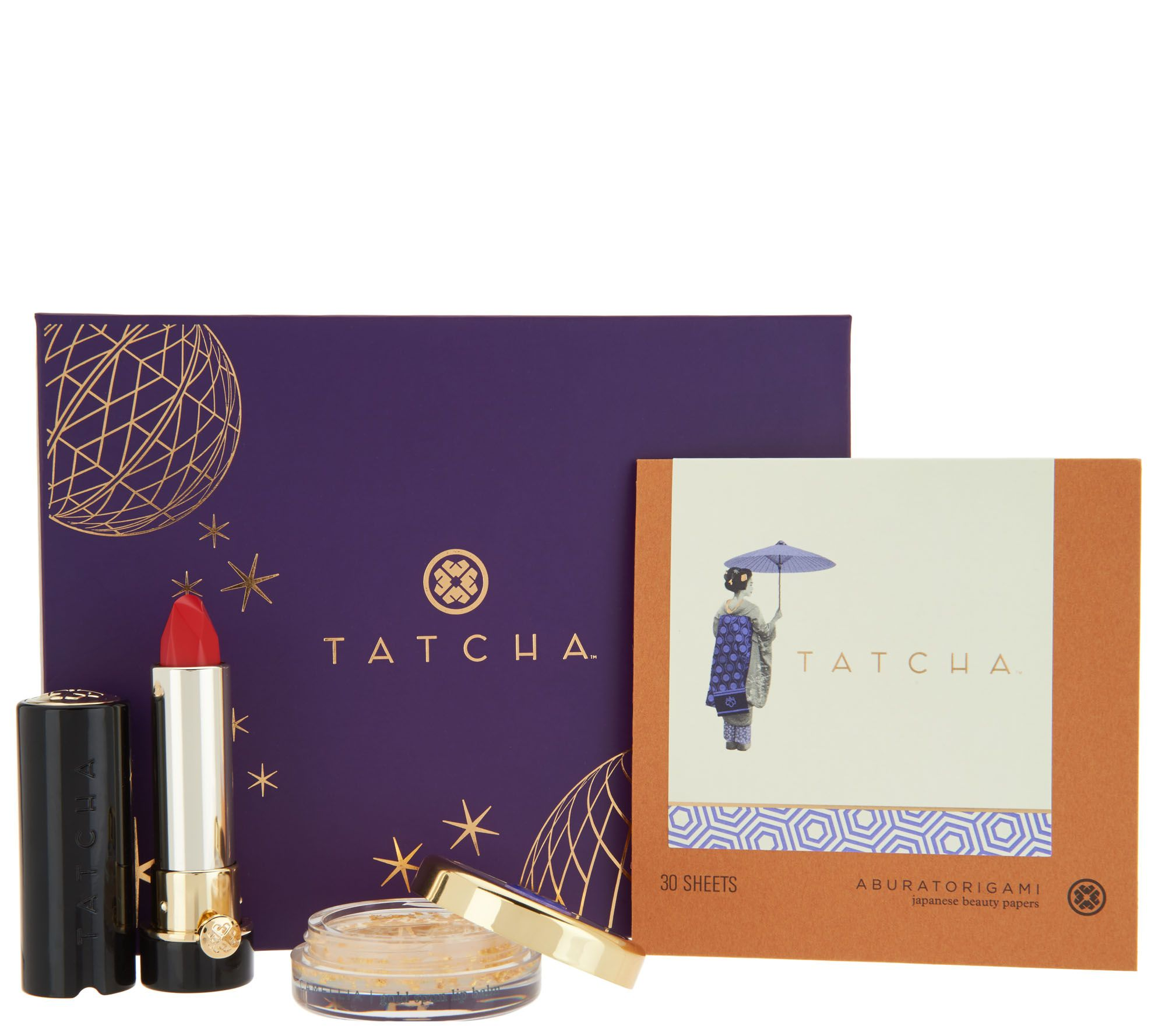 TATCHA Makeup Lover 3-piece Holiday Beauty Gift Set Auto-Delivery ...