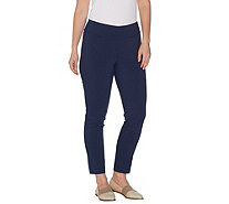 Martha Stewart Petite Stretch Twill Pull-On Ankle Pants - A307744