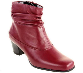 David Tate Vera Leather Ankle Boots - A326144