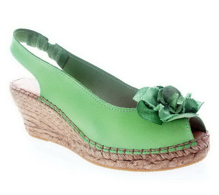 Azura by Spring Step Espadrille Wedge Sandals -Flashback
