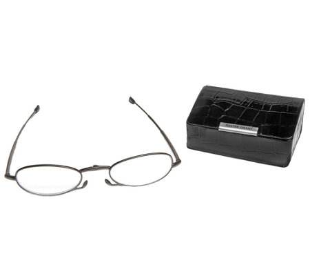 Foster Grant Micro Vision Folding Reading Glasses W/ Mini-Case
