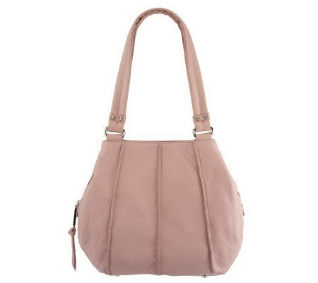 Tignanello Pebble Leather Triple Entry A-Line Shopper