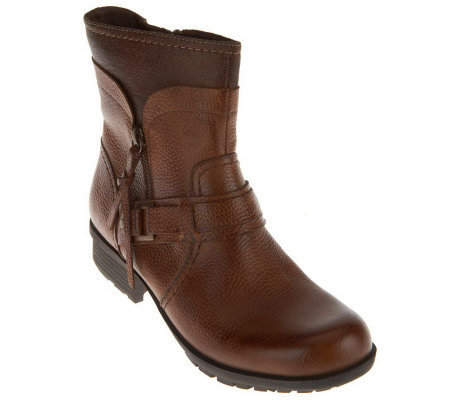 Clarks Bendables Riddle Avant Leather Ankle Boots
