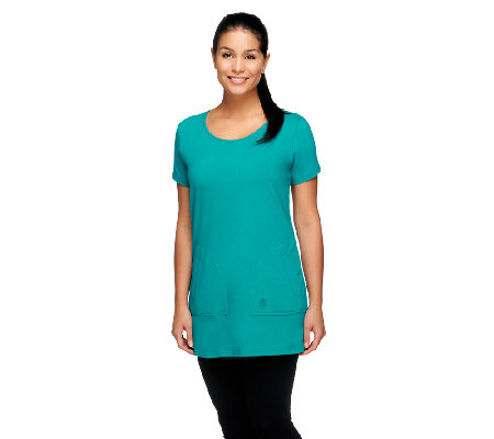 Linea by Louis Dell'Olio Top with Patch Pockets