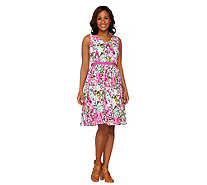 Isaac Mizrahi Live! Sleeveless Floral Printed Dress - A263845