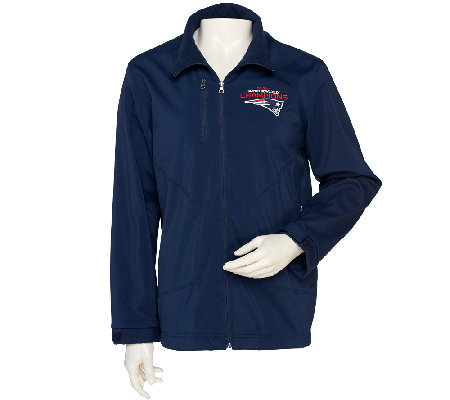 NFL Super Bowl XLIX Champions Patriots Soft Shell Full-Zip Jacket
