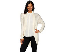 H by Halston Shawl Collar Long Sleeve Cocoon Sweater Cardigan - A269445