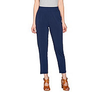 H by Halston Jet Set Jersey Ankle Pants with Smocked Waistband - A275445