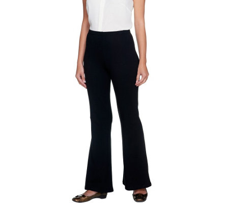 """As Is"" Women with Control Regular Flare Leg Pants with Flat Front"