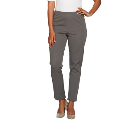 Isaac Mizrahi Live! Petite 24/7 Stretch Ankle Pants w/ Seams