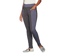 LOGO Lounge by Lori Goldstein French Terry Color-Block Pants - A279445