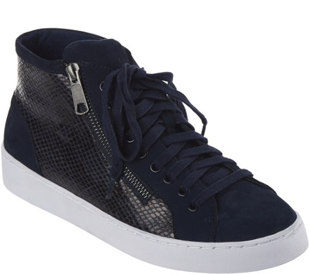 Vionic Orthotic Lace- Up High-Top Sneakers - Torri